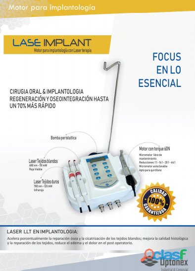Motor para implantología con laser terapia modelo