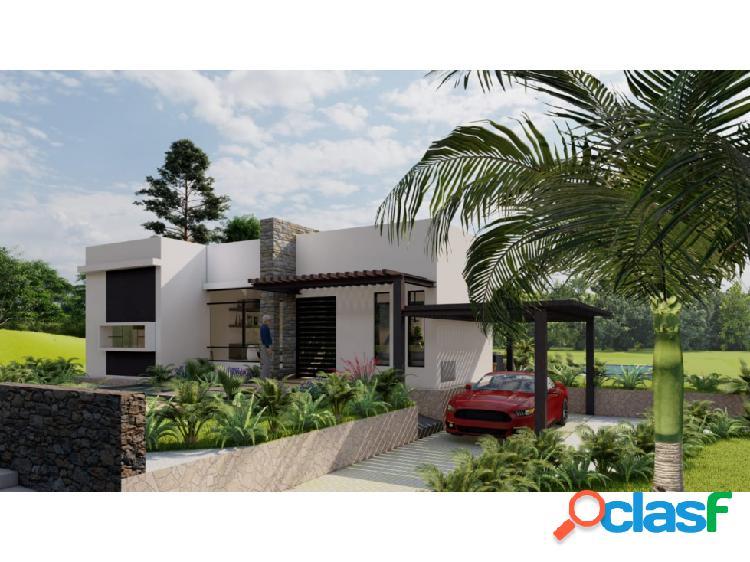 Casa campestre de 128m2 moderna con lote de 1250m2 urbanizado