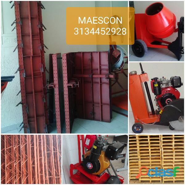 Mezcladora de cemento, formaleta metalica para contruccion