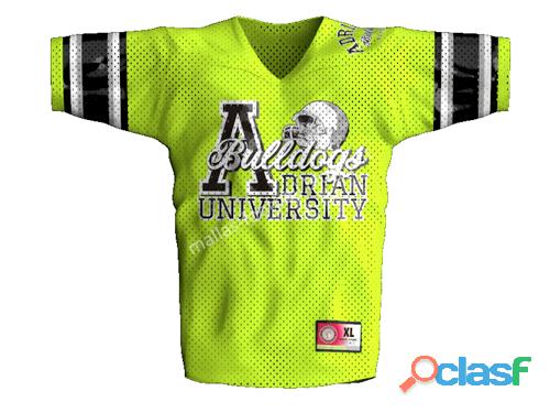 Camiseta dakota_apparel fútbol_americano adrian poliéster amarillo