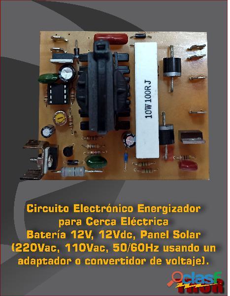 Circuito electrónico para cerca eléctrica a batería 12vdc