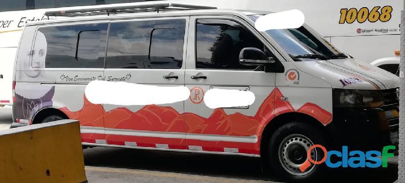Vendo camioneta de servicio intermunicipal sin cupo volksvagen transporter t5