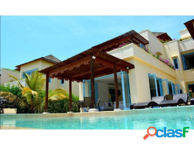 Se vende casa de playa barú cartagena 1120mts.