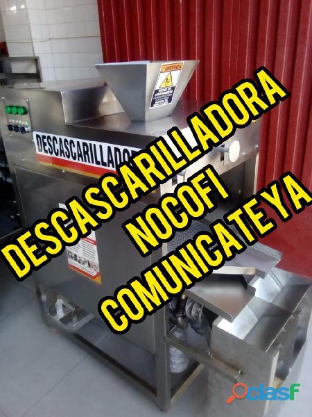 Descascarilladora cacao, prensa cacao, refinador cacao, tostadora cacao, maquinaria industrial