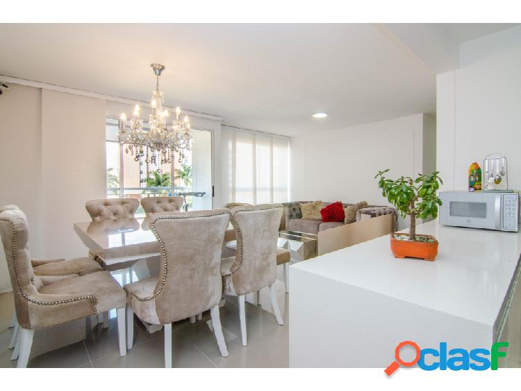 Venta apartamento valle del lili moderno, amplio, iluminado: área 91m2