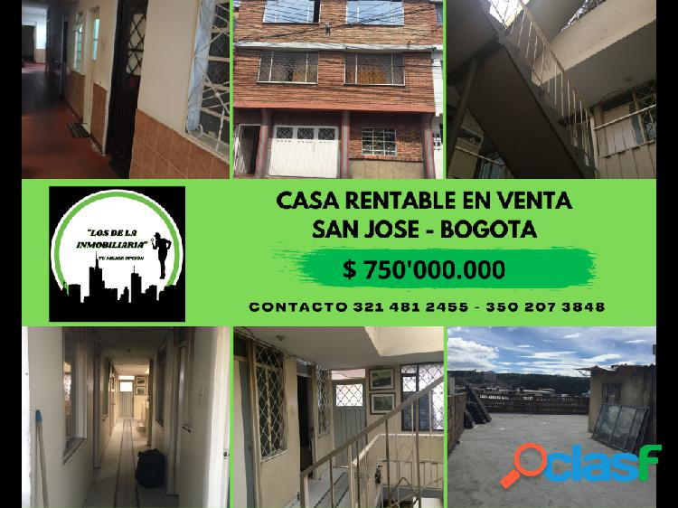 Casa rentable barrio sanjose