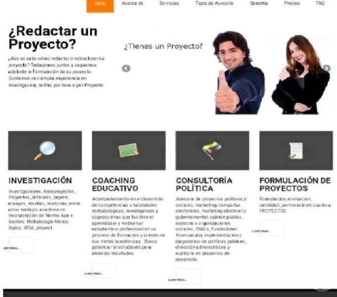 Tesis, anteproyectos, ensayos, artículos