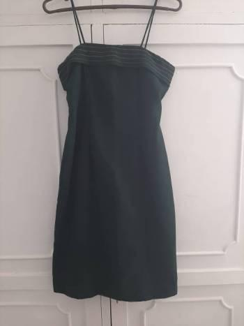 Vestido verde musgo m
