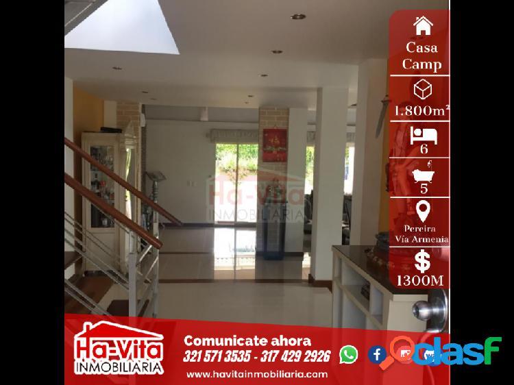 Casa en condominio campestre jamaica, pereira