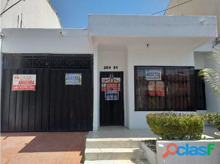 Silva cuesta inmobiliaria arrienda casa en el b/ villa nueva -montería
