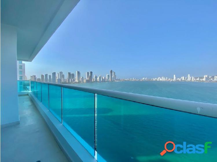 En VENTA! Apartamento en Castillogrande con vista a la Bahía!