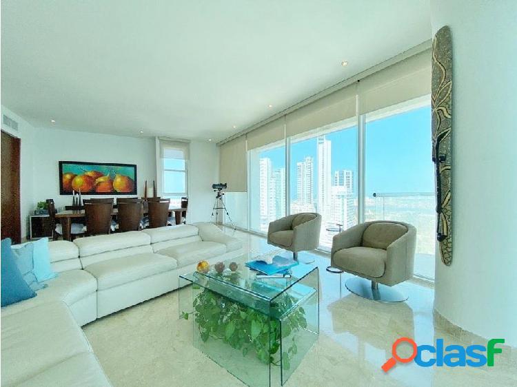 En Venta! Espectacular apartamento frente a la Bahía! 3 alcobas! 1