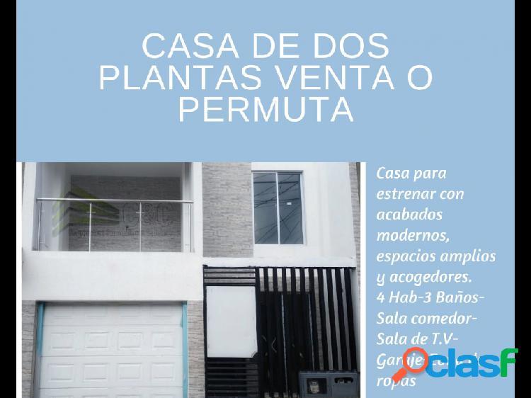 Casa para venta o permuta dos plantas 90602-0