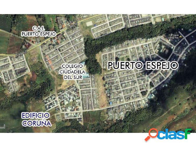 Lote urbano en el barrio puerto espejo 5487