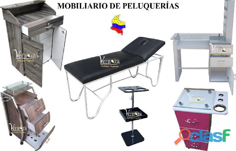 142 ASOMBROSO MONTAJE PARA PELUQUERIA, LAVACABEZAS, SILLA DE PELUQUERIA, MESA MANICURA