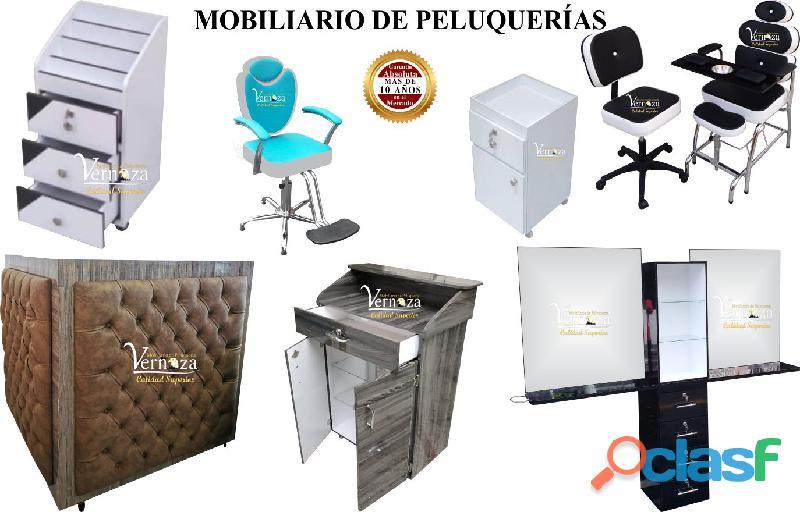 154 exclusivos muebles para peluqueria, lavacabezas, silla de peluqueria, mesa manicura.