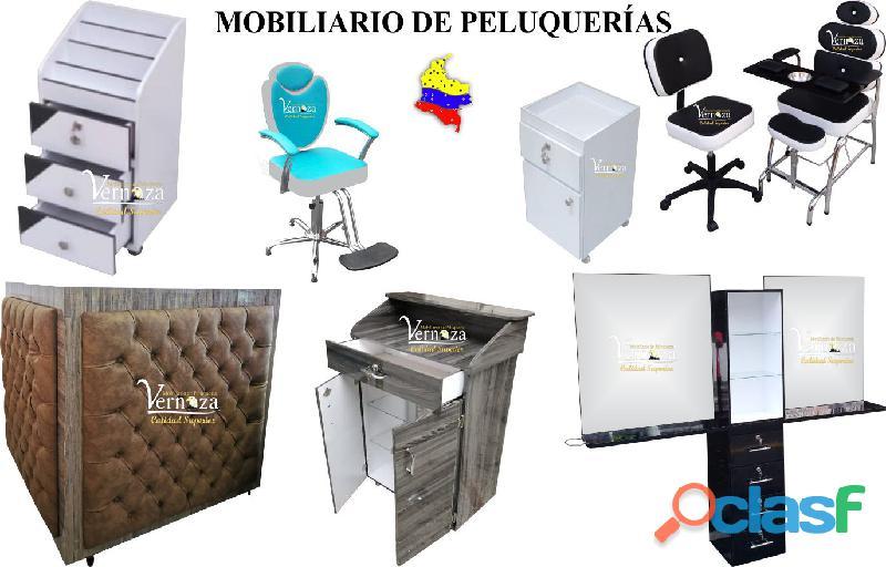 157 clasicos muebles para peluqueria, lavacabezas, silla de peluqueria, mesa manicura.