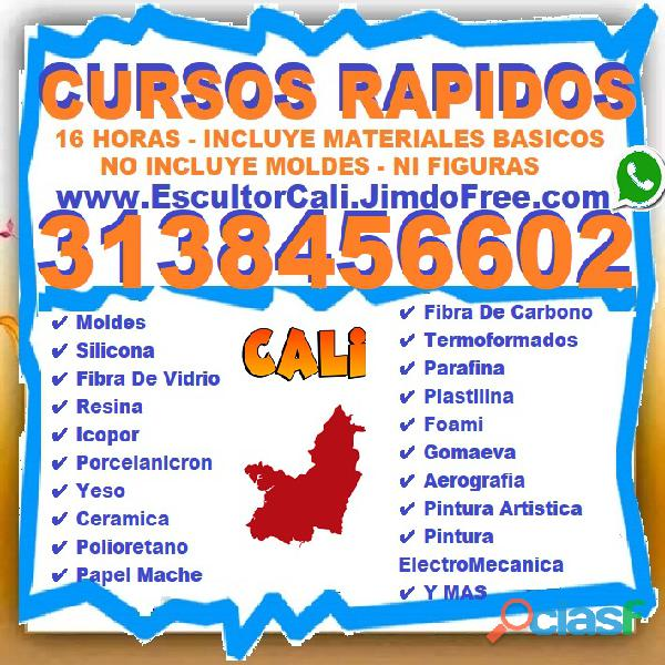 ⭐ cursos todo colombia, clases, moldes, silicona, fibra de vidrio, resina, icopor, porcelanicron, ye