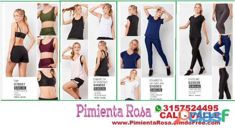 ⭐ Ropa Deportiva Mujer, Bicicleteros, Tops, Licras, Legging, Camisetas, PIMIENTA ROSA Cali, Palmira, 1