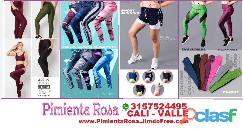 ⭐ Ropa Deportiva Mujer, Bicicleteros, Tops, Licras, Legging, Camisetas, PIMIENTA ROSA Cali, Palmira, 2
