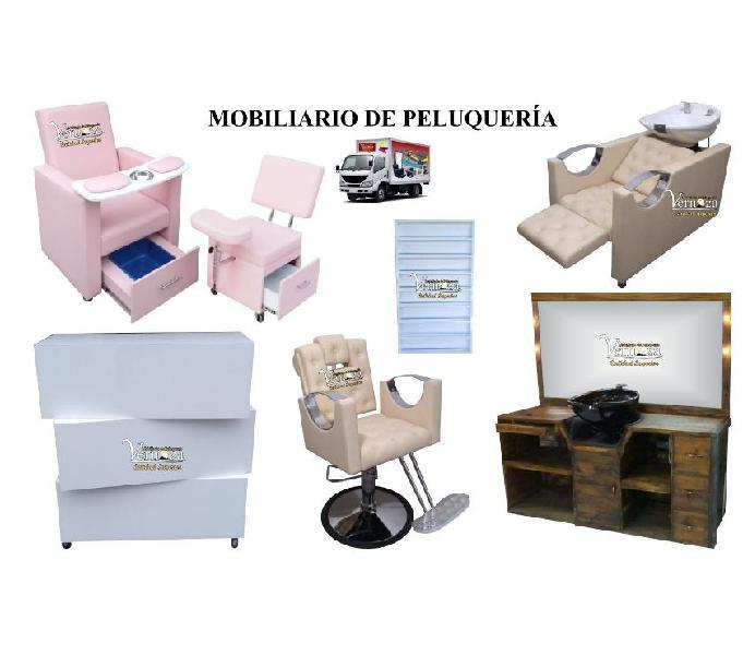 67 APROBADOS MUEBLES PARA PELUQUERIA, BARBERIA, LAVACABEZAS,