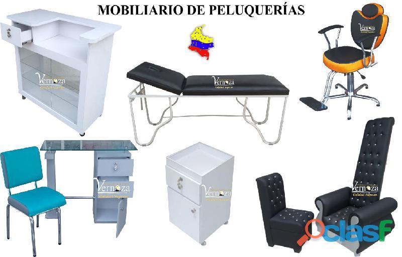 175 reales montajes para peluqueria, lavacabezas, silla de peluqueria, mesa manicura.