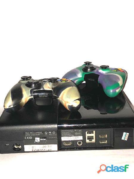 Consola Xbox 360+2 controles originales 25 juegos incorporados 1