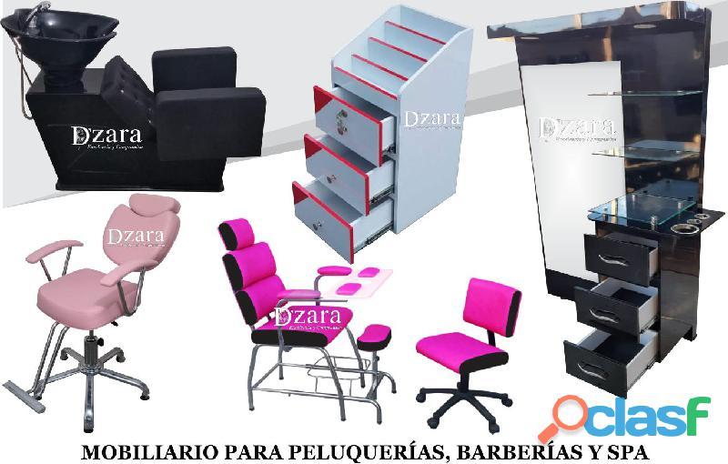 58 EXCELENTES ACABADOS PARA MOBILIARIO DE PELUQUERIA, MESA MANICURA, LAVACABEZAS, SILLA DE PELUQUERI