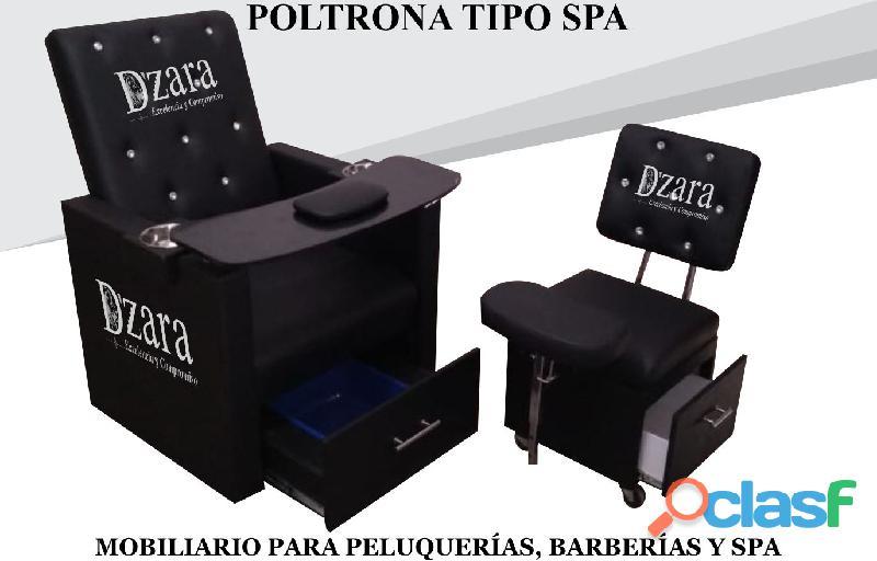 62 MARAVILLOSA POLTRONA TIPO SPA, RECEPCION, SILLA PARA BARBERIA.
