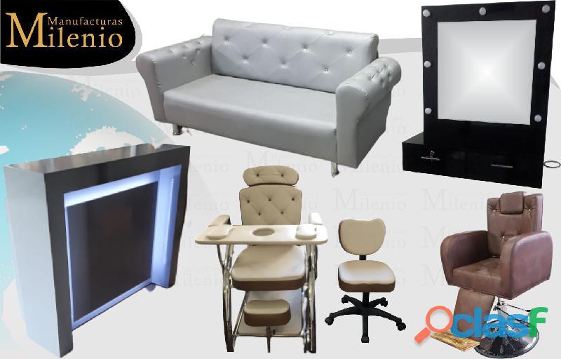 124 instantaneos muebles para peluquerias, lavacabezas, silla de peluqueria, mesa manicura.