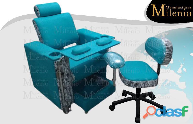 134 exclusiva poltrona tipo spa, recepcion, silla para barberia.