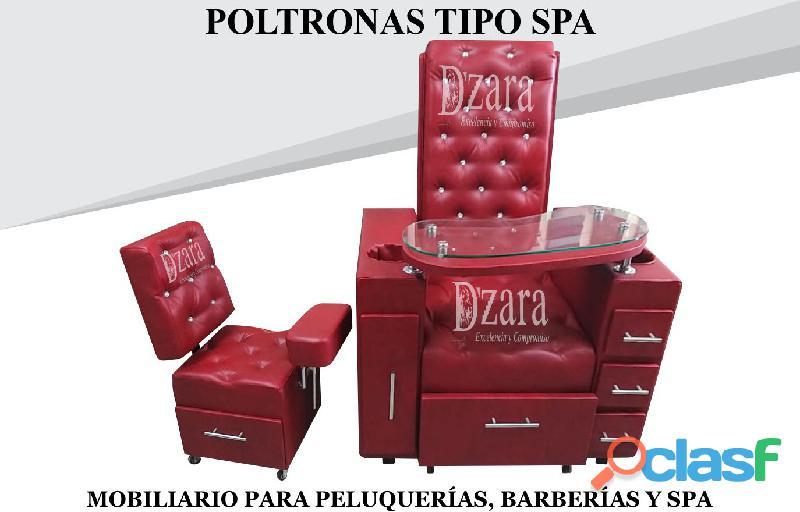 164 sofisticados poltrona tipo spa, recepcion, silla para barberia.