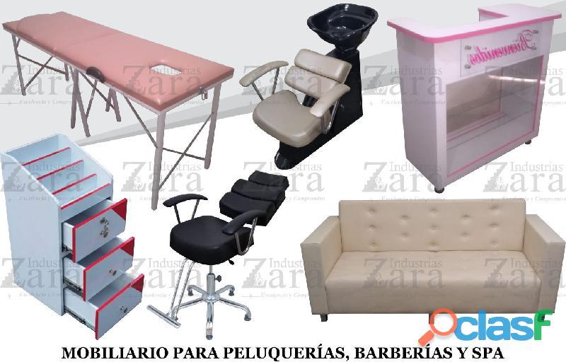 181 legitima fabrica de muebles para barberias, peluquerias, lavacabezas, silla de peluqueria, mesa