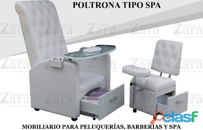 218 agradable poltrona pedicure, recepcion, silla para barberia.