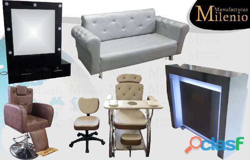 274 amables muebles para peluqueria, mesa manicura, lavacabezas, silla de peluqueria.