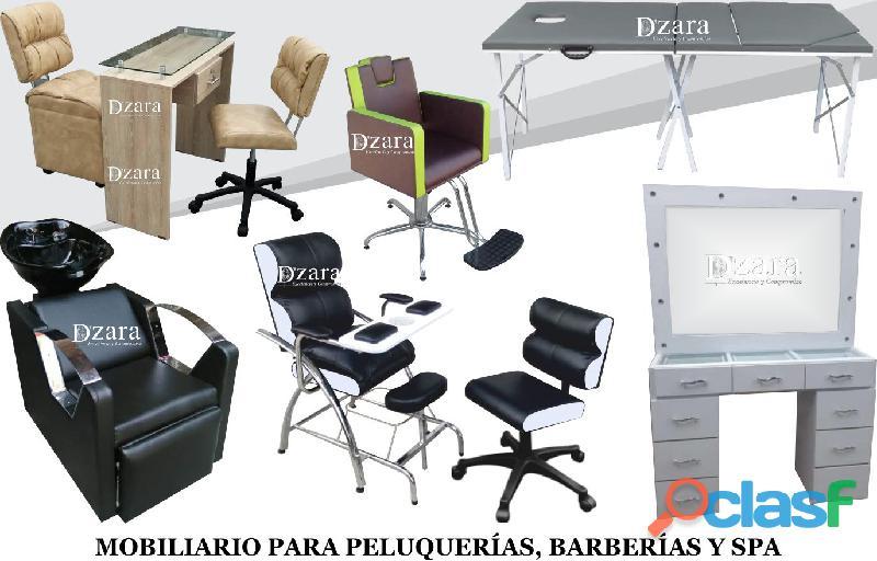 64 patente mobiliario de peluqueria y mas, mesa manicura, lavacabezas, silla de peluqueria.
