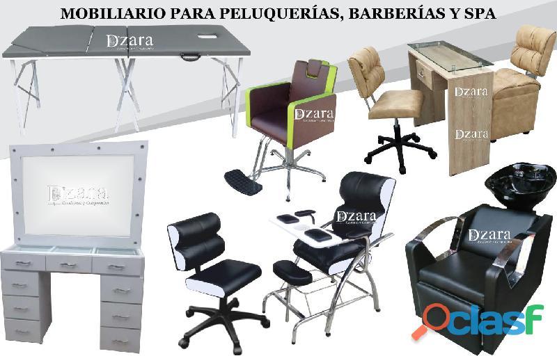 70 extraordinarios muebles de peluquería, barbería, estética, lavacabezas, silla de peluqueria, mesa
