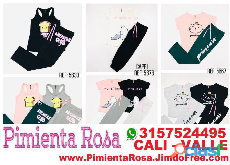 ⭐ PIJAMAS Para Mujer, Short, Capri, Pantalon, Batolas, Blusas, Tallas Desde S, M, L, XL, y Plus Size 2