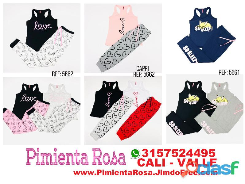 ⭐ PIJAMAS Para Mujer, Short, Capri, Pantalon, Batolas, Blusas, Tallas Desde S, M, L, XL, y Plus Size 3