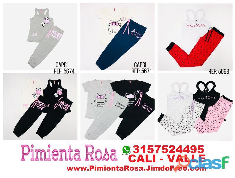 ⭐ PIJAMAS Para Mujer, Short, Capri, Pantalon, Batolas, Blusas, Tallas Desde S, M, L, XL, y Plus Size 4