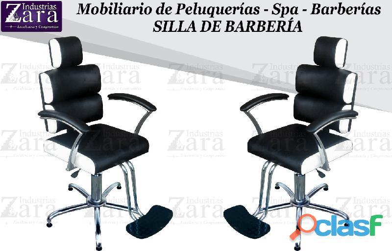 177 BELLISIMA SILLA DE BARBERIA, POLTRONA PEDICURE, RECEPCION.