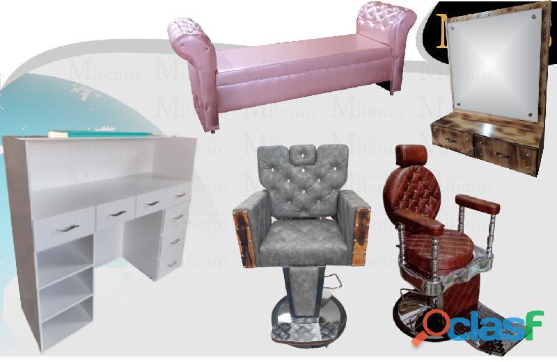22 preciosos muebles para peluquerias, lavacabezas, silla de peluqueria, mesa manicura.