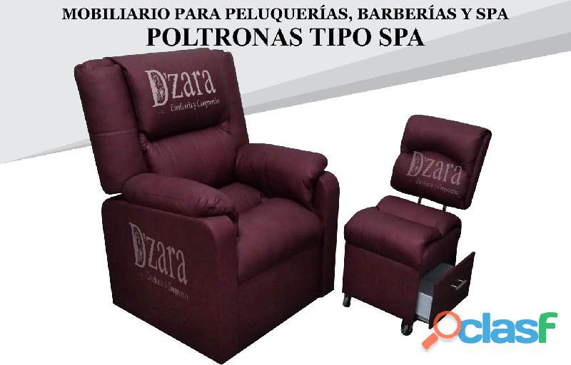 251 poltrona tipo spa, recepcion, silla para barberia.
