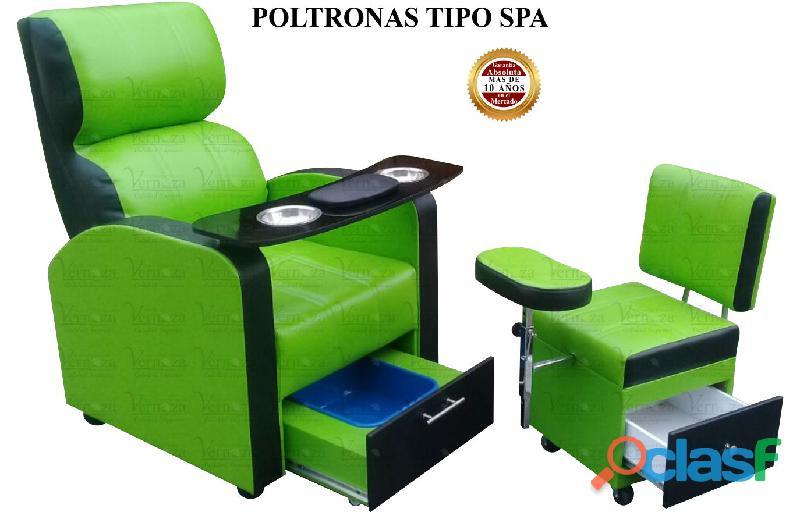 155 preciosa poltrona pedicure, recepcion, silla para barberia.