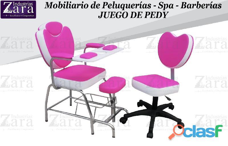 294 hermosa silla de manicure, camilla masajes, tocador camerino.