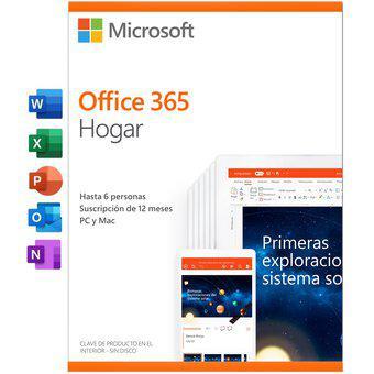 Office 365 hogar 1 año hasta 6 usuarios 25 dispositivos pc