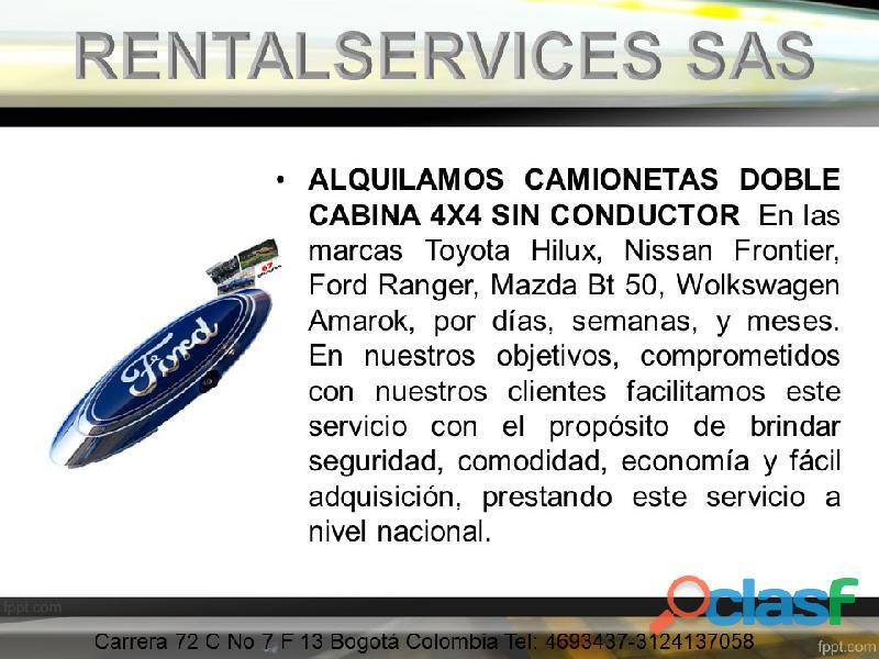 RENTA Y ALQUILER DE CAMIONETAS 4X4 DOBLECABINA EN BOGOTA 2