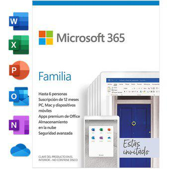 Office 365 Familia 1 Año Hasta 6 Usuarios 25 Dispositivos