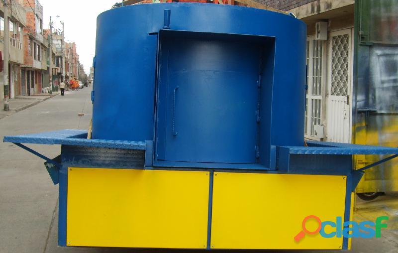 Fabricación de Maquinaria para Reciclaje de Llantas Usadas y Plásticos.