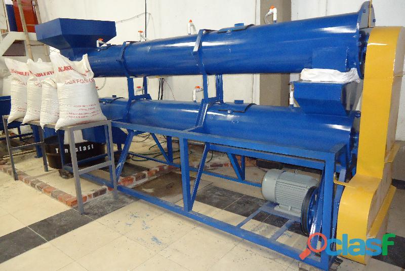 Fabricación de Maquinaria para Reciclaje de Llantas Usadas y Plásticos. 3